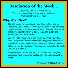 *Resolution of the Week...* A new work week - the white board is clear... Where should I start?   It's #YourOneGR8Life - Dream it, Create it, Live it!