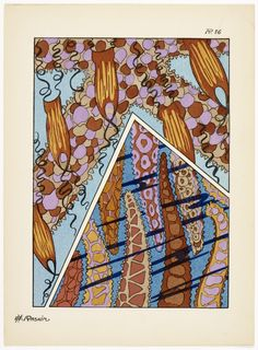 'Fantaisies oceanographiques en 25 planches en couleurs' by E. Published 1924 by F. Pattern Drafting, Beautiful Patterns, Natural History, Ephemera, Tarot, Art Deco, Pictures, Illustrations, Beach