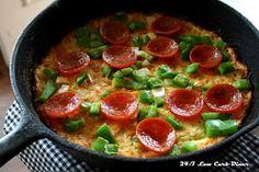 24/7 Low Carb Diner: Skillet Squash Pizza