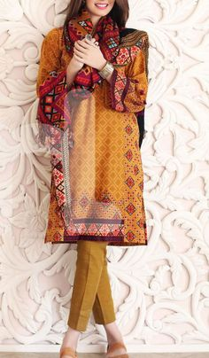 Buy Camel Brown Printed Karandi Salwar Kameez by Nishat Linen Collection 2015 for $129.99. A wonderful winter dress for Indian & Pakistani ladies with worldwide shipping. Queries: (702) 751-3523 Whatsapp/Viber us at : 0092-3218864791