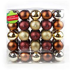 Gold & Brown Plastic Ornaments, 50-Pack at Big Lots.