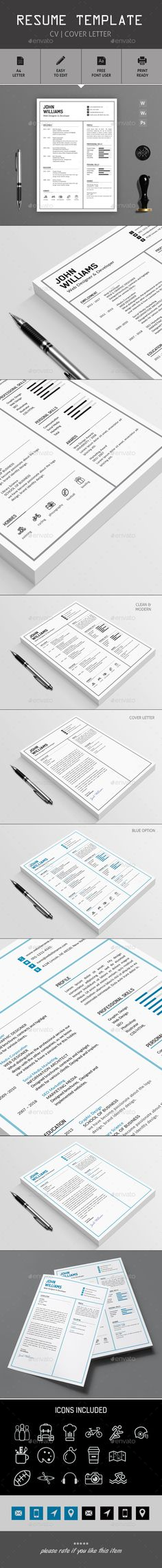 Buy Resume Templates by diephay on GraphicRiver