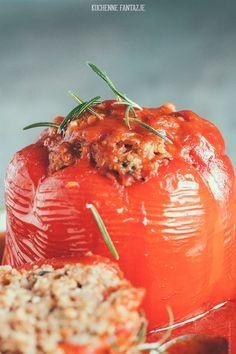 Papryka faszerowana kaszą jaglaną i wołowiną