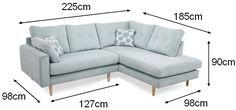 Canapé d'angle Calais - dimensions