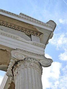 detail of Ionic column on the Erechtheion at the Acropolis of Athens, Greece, 421 B.C.