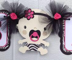 Zebra print Baby shower banner its a girl by NancysBannerBoutique,