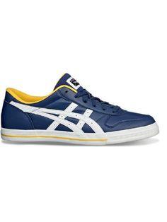 2a94e30d81ae8 Asics Aaron Sneaker Blue   White
