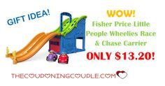 WOW! Don't miss this Fisher Price Little People Wheelies Race & Chase Carrier ONLY $13.20! This is a great toy for at home or on the go.  Click the link below to get all of the details ► http://www.thecouponingcouple.com/fisher-price-little-people-wheelies-race/ #Coupons #Couponing #CouponCommunity  Visit us at http://www.thecouponingcouple.com for more great posts!