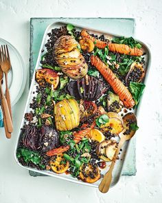 Budget winter recipes delicious magazine - DIY and crafts Roasted Vegetable Recipes, Roasted Vegetables, Root Vegetables, Veggies, Vegetarian Comfort Food, Vegetarian Recipes, Savoury Recipes, Diet Recipes, Healthy Recipes