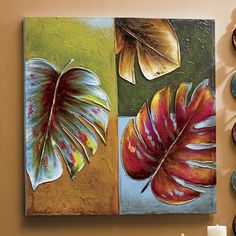 (notitle) - Home Decor - Art Floral, Diy Painting, Painting & Drawing, Abstract Canvas, Canvas Art, Images D'art, Modern Art Paintings, Inspiration Art, Leaf Art