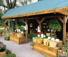 Farm shop out front near the road to sell honey, veggies, herbs, jams and goat cheeses.