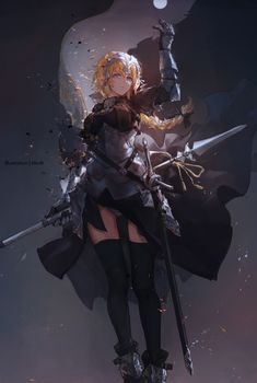Jeanne d'Arc [Fate/Grand Order] You are in the right place about Fate Zero Here we offer you the most beautiful pictures about the fate zero rider you are looking for. When you examine the Jeanne d'Arc [Fate/Grand Order] part of[. Otaku Anime, Anime Naruto, Manga Anime, Fantasy Warrior, Fantasy Girl, Kaori Anime, Fantasy Characters, Anime Characters, Jeane D Arc