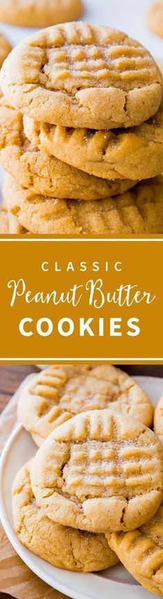 The BEST peanut butter cookies! Soft and chewy with tons of peanut butter flavor. | #cookierecipes #christmascookies #classiccookies #peanutbutterrecipes