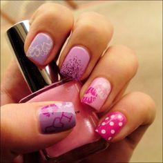 Sweet nail love  #nail #unhas #unha #nails #unhasdecoradas #nailart #gorgeous #fashion #stylish #lindo #cool #cute #fofo #rosa