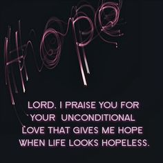 you give me hope