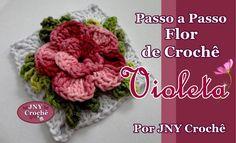 Passo a Passo de Crochê Flor Violeta por JNY Crochê