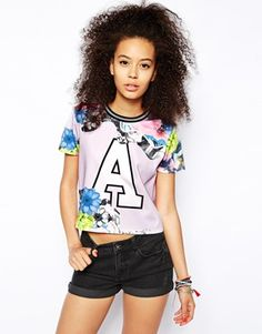 ASOS Top with Marble Floral Print