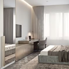 163 warm and cozy master bedroom decorating ideas that you need to copy right now 34 Modern Bedroom Design, Master Bedroom Design, Home Bedroom, Interior Design Living Room, Bedroom Decor, Hotel Room Design, Home Office Design, Room Partition Designs, Apartment Interior