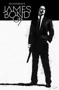 Dynamite 007 Cover by DanielMurrayART on DeviantArt Tom Hardy James Bond, Daniel Craig James Bond, James Bond Movie Posters, James Bond Movies, Comic Book Covers, Comic Books Art, Book Art, Tom Hardy Images, James Bond Party