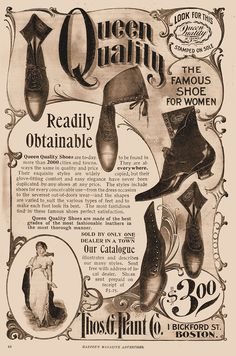 The Famous Shoe for Women - Victorian Advertising