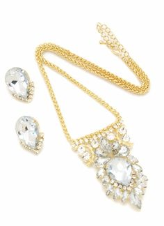 FACETED JEWEL NECKLACE SET $12.40