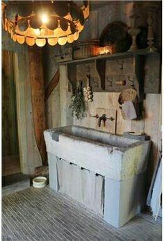 Meer dan 1000 idee n over kleine keuken bijkeuken op pinterest keuken bijkeuken kleine - Oude keuken wastafel ...