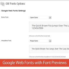 How to add Google Web Fonts with Font Preview in WordPress without Plugins