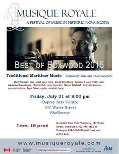 Friday, July 31 at 8:00 pm, Osprey Arts Centre, 107 Water Street, Shelburne Tickets $20 general / $7 student - Available from TLC Pharmacy, 157 Water Street, Shelburne, 902-875-4852 OR Ticketpro 888-311-9090 (toll free), and at the door Highland Village, Early Music, Anglican Church, Cape Breton, John The Baptist, The Unit, Student, Dance, Songs