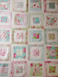 quilt as you go using tanya whelan fabrics by Quilting in the Rain