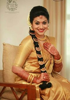 Cleaner For Gold Jewelry Wedding Dress, Saree Wedding, Desi Wedding, Wedding Bride, South Indian Bride, Indian Bridal, Bridal Beauty, Bridal Hair, Bridal Makeup
