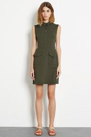 Military Shift Dress
