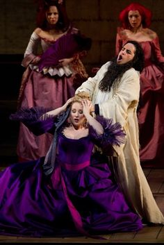 Diana Damrau (Countess Adèle) and Juan Diego Flórez (Count Ory disguised as a hermit) in Act 1 of the Met Opera's production of 'Le Comte Ory' - April 2011 © Metropolitan Opera