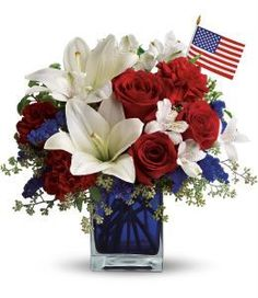 (http://www.georgesflowers.com/america-the-beautiful/) This would be great for the Veterans in my life.
