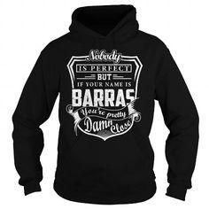 Awesome Tee BARRAS Last Name, Surname Tshirt T shirts