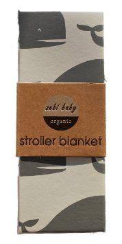 Zebi Baby Organic Stroller Blanket Grey Whale | LOCAL FIXTURE