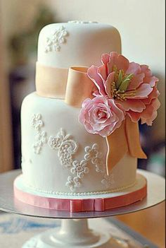 a smaller wedding cake would be perfect
