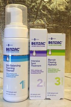 Benzac Complete Acne Solutions 3 Step Kit Galderma The Proactive Alternative | eBay