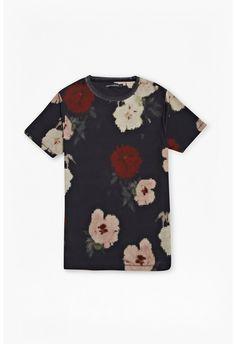 Pixel Peonies Cotton T-Shirt
