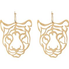 Rita & Zia Tiger earrings found on Polyvore