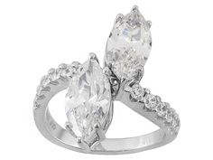 Bella Luce (R) 6.00ctw Rhodium Over Sterling Silver Ring (3.72ctw Dew)