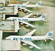Pan Am Worldport, Terminal 3 at John F. Kennedy International Airport - Ives, Turano & Gardner - An extension was built in 1971 to accommodate the brand new Jumbo Jets, as seen here at Gates 11 and Boeing Aircraft, Passenger Aircraft, Commercial Plane, Commercial Aircraft, Airline Travel, Air Travel, Aviation Center, National Airlines, Best Airlines