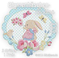 Blumenhäschen-Button