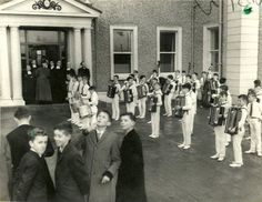 De La Salle Boys Band, Ballyfermot road, 1960 Dublin Street, Photo Engraving, Old Photos, Ireland, Irish, Street View, Paintings, History, Places