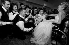 Just cus the brides in a wheelchair doesnt mean she wont be happy or sexy