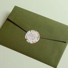 "designki.com on Instagram: ""Floral Theme Monogram Stickers 🌷 Wedding Invitation Envelope Sealing Stickers 👩💻designed + printed by @design.ki . . #weddinginvitations…"" Wedding Invitation Envelopes, Addressing Envelopes, Monogram Stickers, Graphic Design Print, Floral Theme, Sticker Design, Printed, Instagram, Prints"