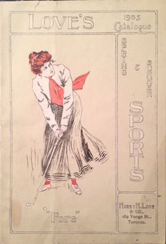 Love's Catalogue Spring and Summer Sports 1905 Lady Golfer Cover