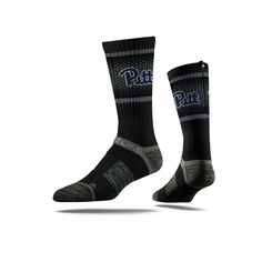 Our Pittsburgh Panthers socks are designed to embody the look, feel and tradition of the University of Pittsburgh. Covered by Strideline's lifetime guarantee these are the most comfortable Panthers sock on earth. Strideline Socks, Crew Socks, Atlanta City, Dallas City, Chicago City, Orlando City, Blue Flames, Black Socks, Lsu Tigers