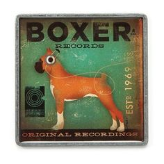 Dogs Rock Boxer Magnet