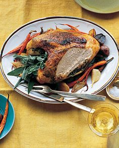 Herbed Turkey Breast ~ Turkey breast turns out marvelously juicy and flavorful when soaked for several hours in a simple brine. Choose a bone-in, skin-on turkey breast to allow for maximum flavor and browning.