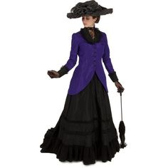 Buy Alysse Edwardian Ensemble from Recollections. Our design staff has dedicated over 30 years creating fine ladies garments. Edwardian Costumes, Edwardian Clothing, Edwardian Fashion, Historical Clothing, Vintage Fashion, Vintage Clothing, Historical Dress, Historical Costume, Girl Clothing